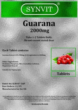 SYNVIT® Guarana 2000mg UK